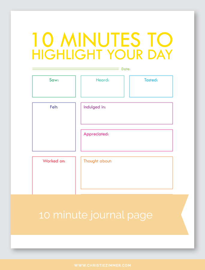 highlight your day (1) printable journal page - FREE!
