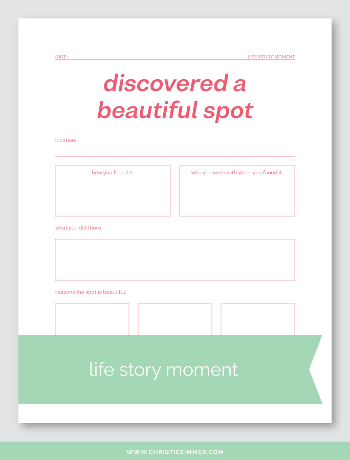 discovered a beautiful spot printable journal page - Free!