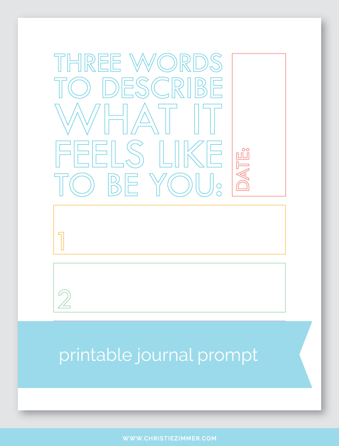 what it feels like to be you printable journal page - Free!