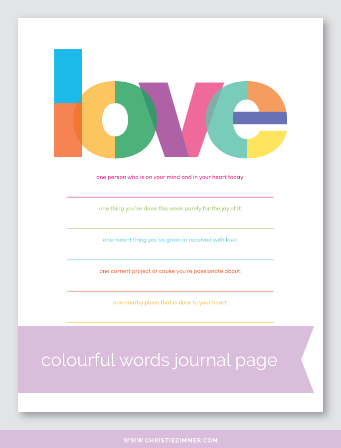 Love printable journal page - Free!
