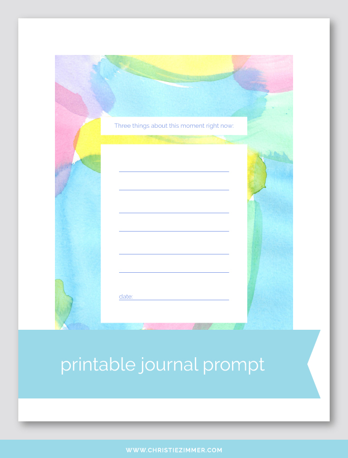 this moment printable journal prompt - Free!
