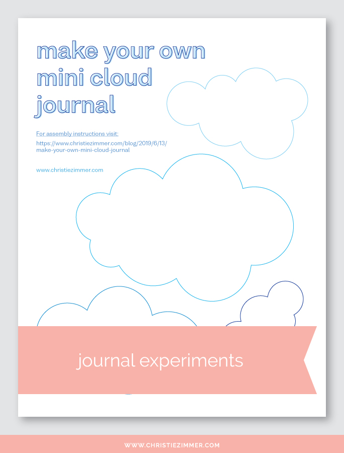 printable mini cloud journal template - Free!