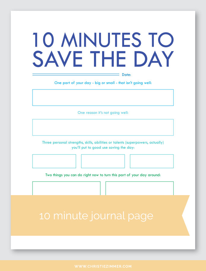 save the day printable journal page - Free!