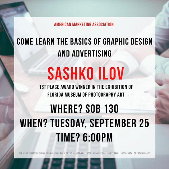 Today we will be having a very special guest, Sashko IIov. We will be learning very useful skills like how to create logos and how to advertise an online store. This session is open to everyone. See you there.