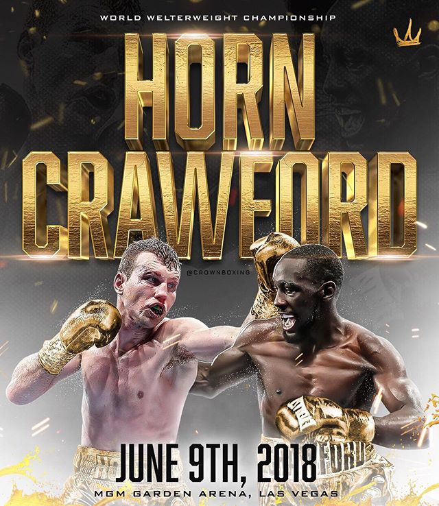 It's Fight Week! #HornCrawford goes down this Saturday at the @mgmgrand arena for the WBO Welterweight Title. What's your prediction? @jeffhornboxer vs. @tbudcrawford. 🎥 @espn