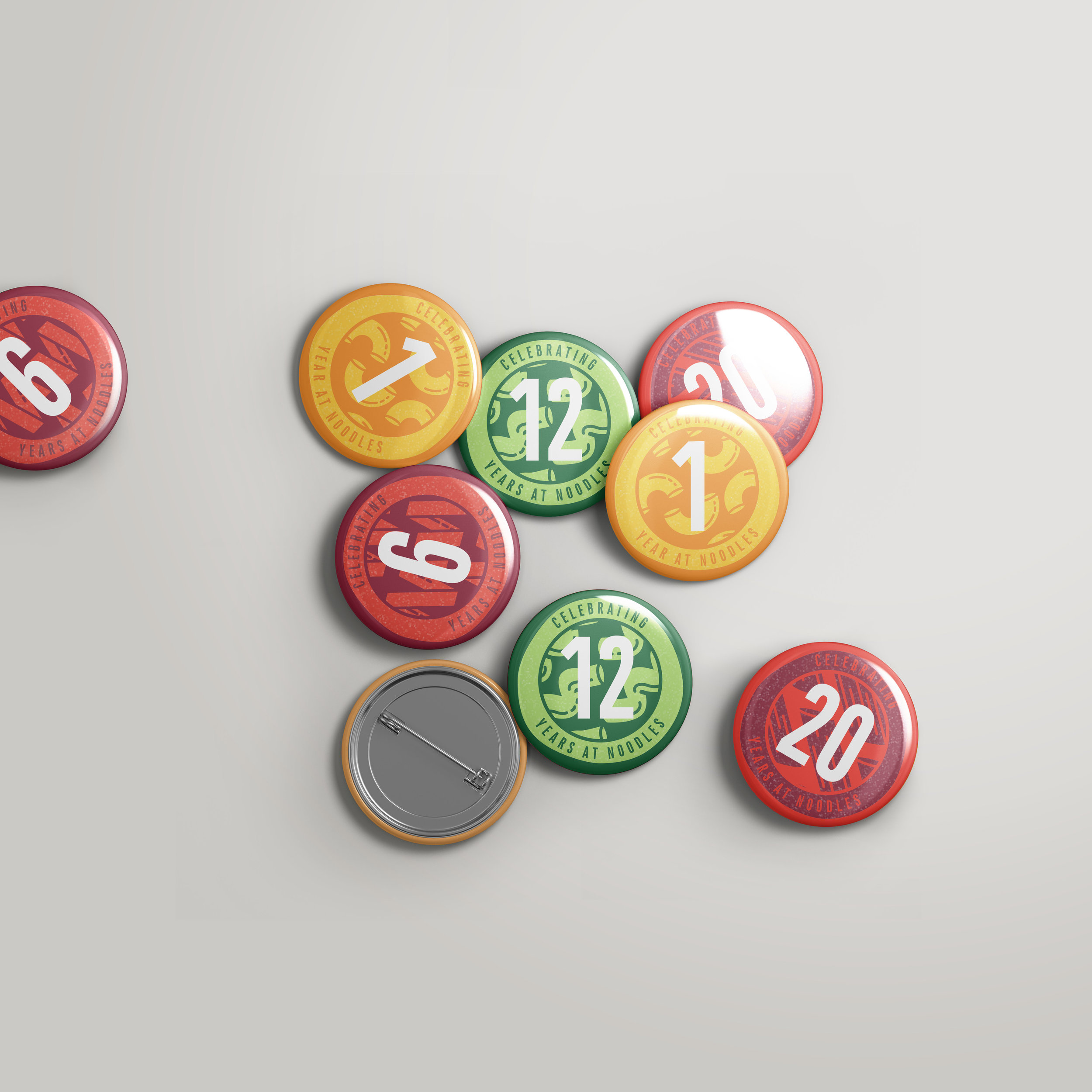 Noodles & Company - anniversary buttons