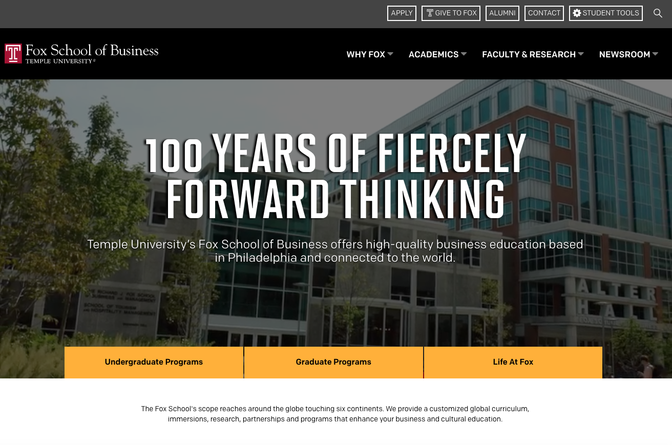 Fox School of Business -