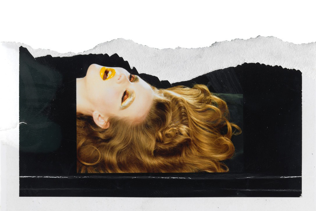 """RECLINING HEAD (STUDY)"" 2002 BY MILES ALDRIDGE, COURTESY STEVEN KASHER GALLERY, NEW YORK"