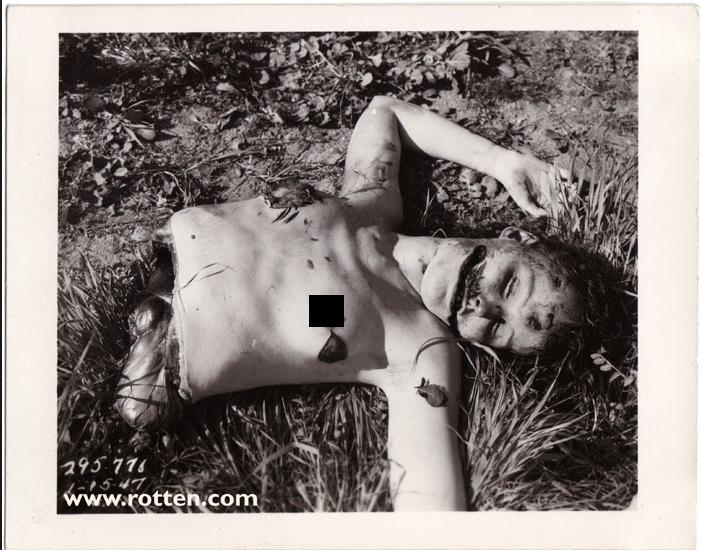 Crime Scene Photo of The Black Dahlia