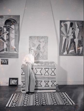 In the studio/living room of Villa Elaine where I shot my story