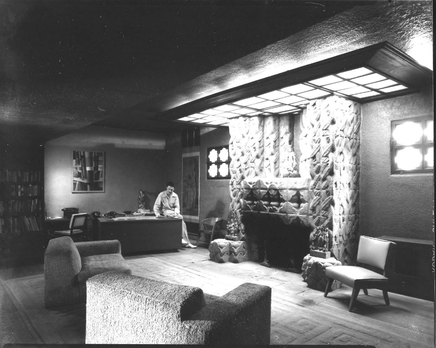 Lloyd Wright's Sowden House, home of George Hodel (pictured here) and probable murder sight