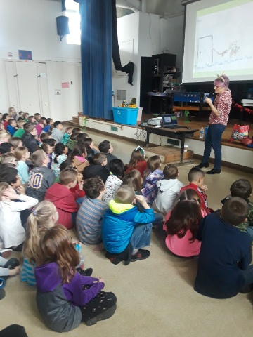 Talking to the wonderful kids at Brookside Elementary, Willits, CA