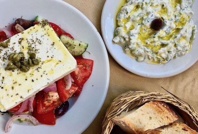 Greek sald & tzatziki -