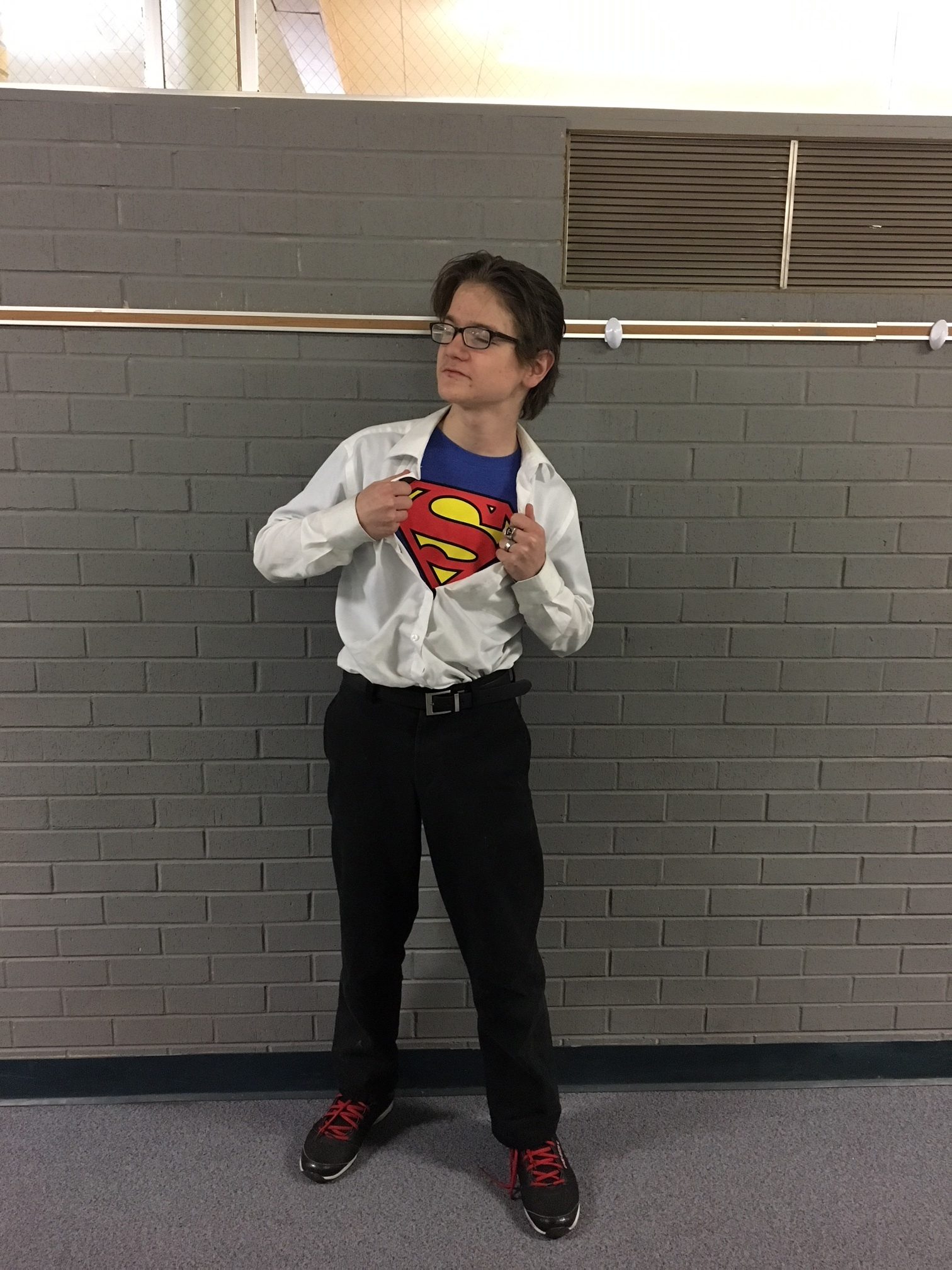 Be a superhero for LCS students (like this LCS student during LCS Spirit Week) and volunteer.