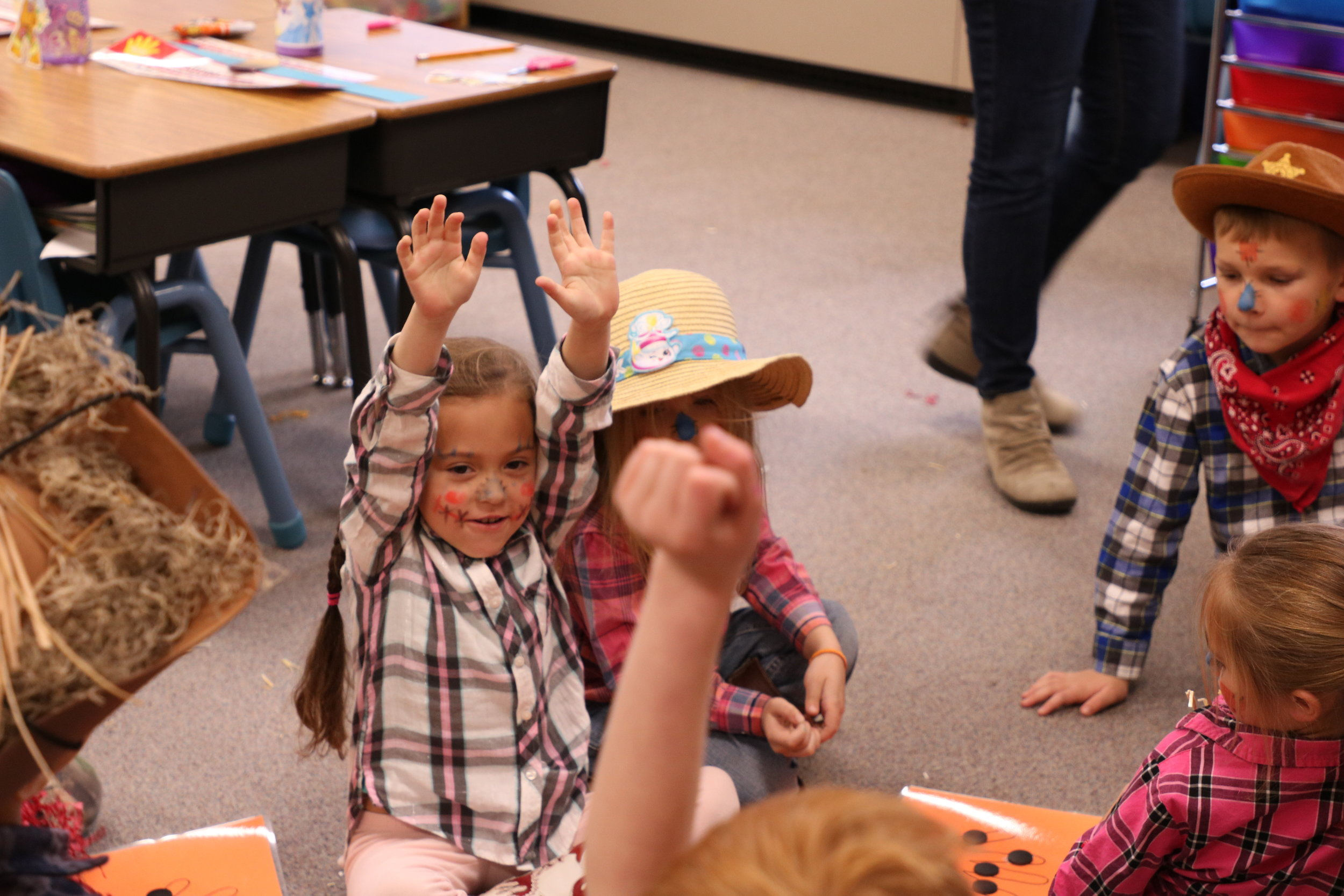 LCS elementary students celebrate fall at their harvest party.