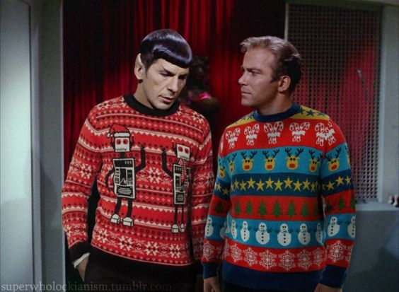 "Come join us! - ""if you make me wear this sweater Jim, it may cause annihilation, absolute, complete annihilation"""