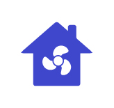 House with air conditioning icon