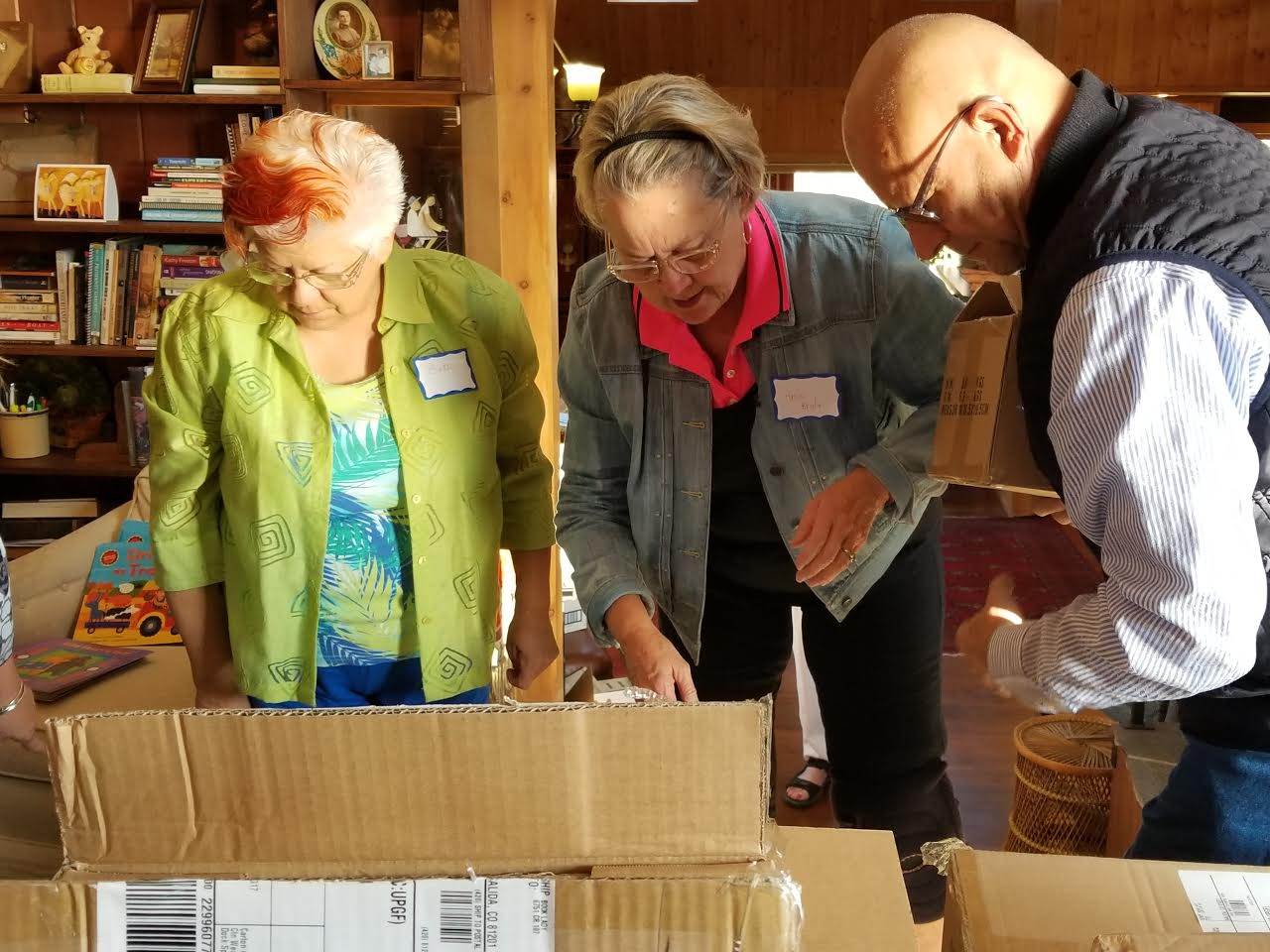 Preparing a shipment for the San Luis Valley in Southern Colorado.
