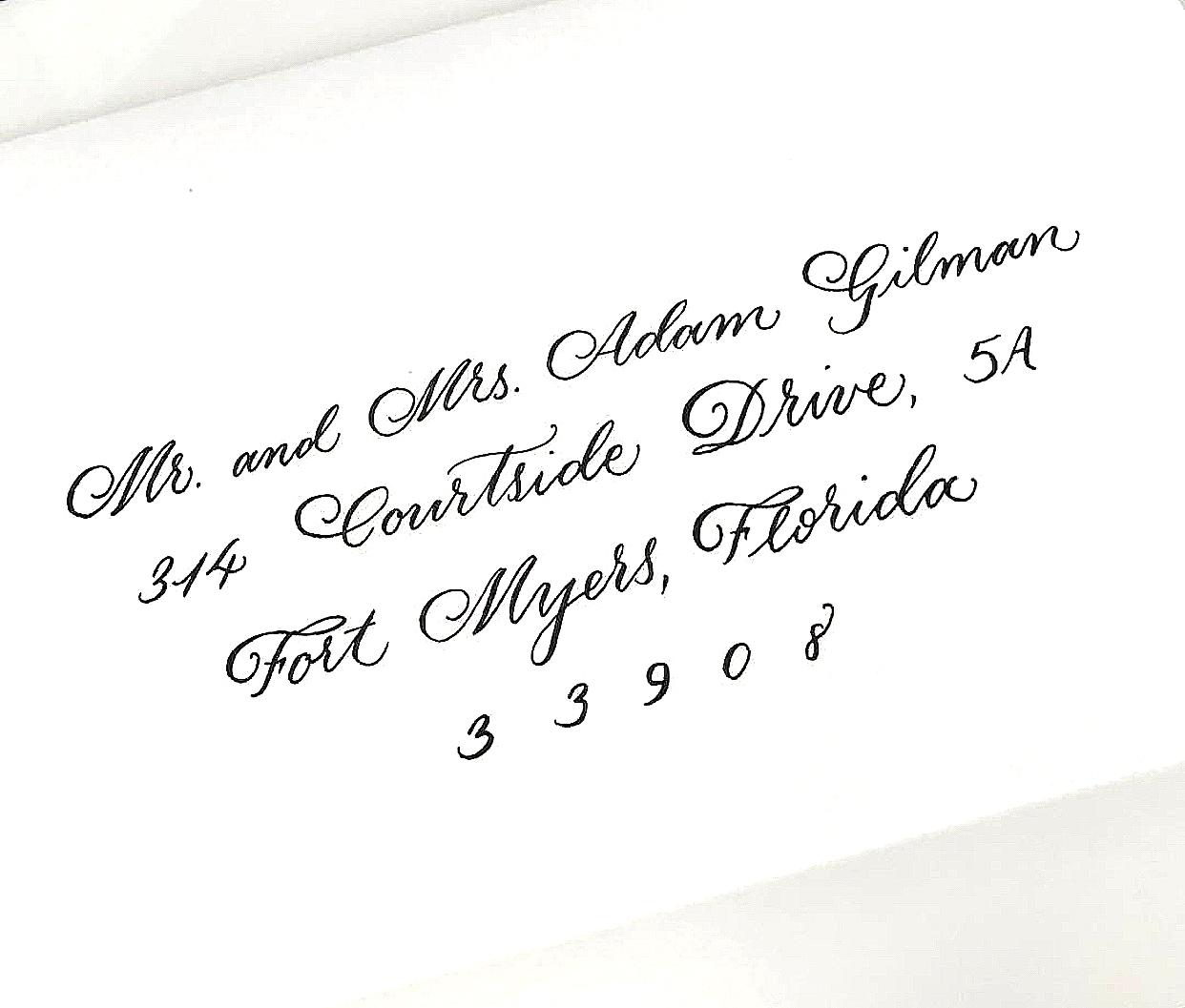 Wedding Invitations - Calligraphy Envelopes