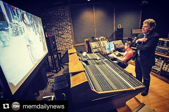#Repost @memdailynews ・・・ Music+Arts Studio @music_arts_studio owner Ward Archer and studio manager Daniel Lynn scrub through film footage in the facility's control room. The studio has recently expanded its digital distribution for independent films. (Daily News/Andrew J. Breig)