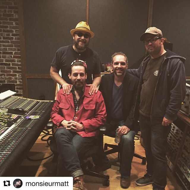 Beautiful people making beautiful music.  #Repost @monsieurmatt ・・・ #Repost @nemethmusic ・・・ Mixing up The Love Light Orchestra with Producer Matt Ross-Spang Engineer Kevin Houston and arranger Marc Franklin.. it sounds amazing! @music_arts_studio
