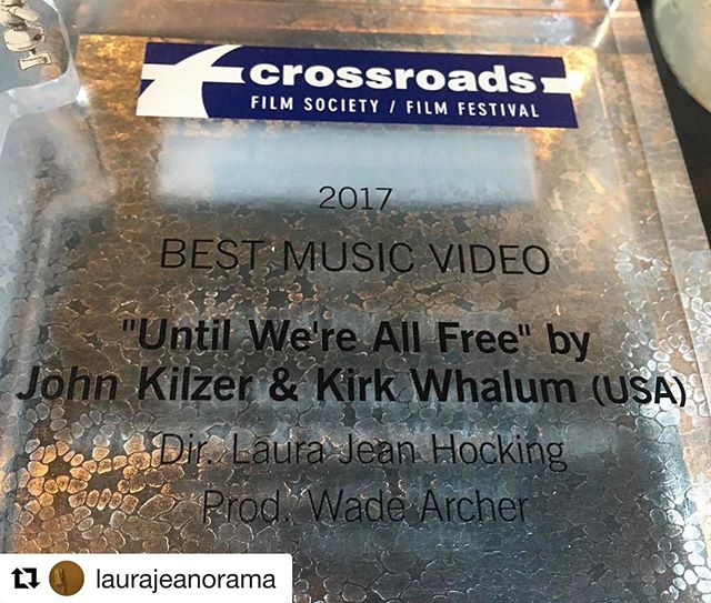 #Repost @laurajeanorama ・・・ Having a pretty awesome day. Thank you @crossroadsfilm!
