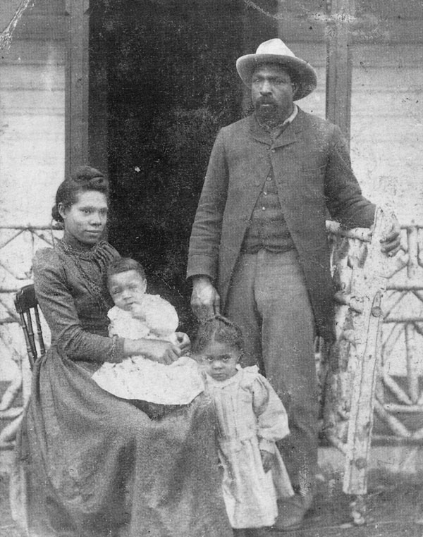 JOHN WARE WITH WIFE MILDRED LEWIS WARE, DAUGHTER NETTIE AND SON BOB