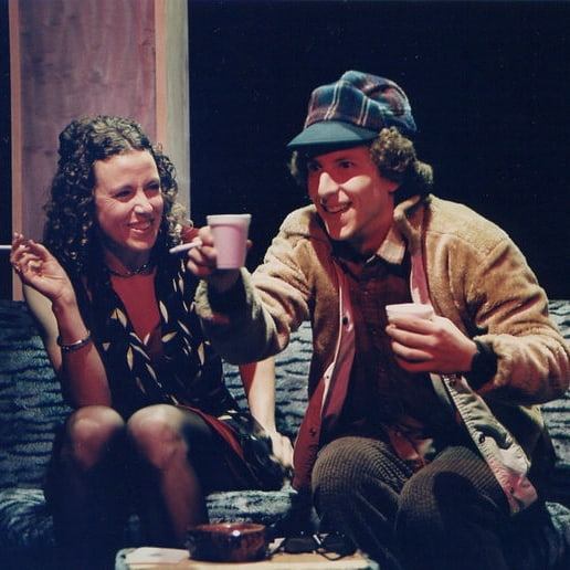 Production shot from Java Life by Aaron Bushkowsky, from 1997-98 season! We're counting down to our 40th birthday! #yegtheatre #yegcity #abtheatre #WWPT #wwpt40 #playwright