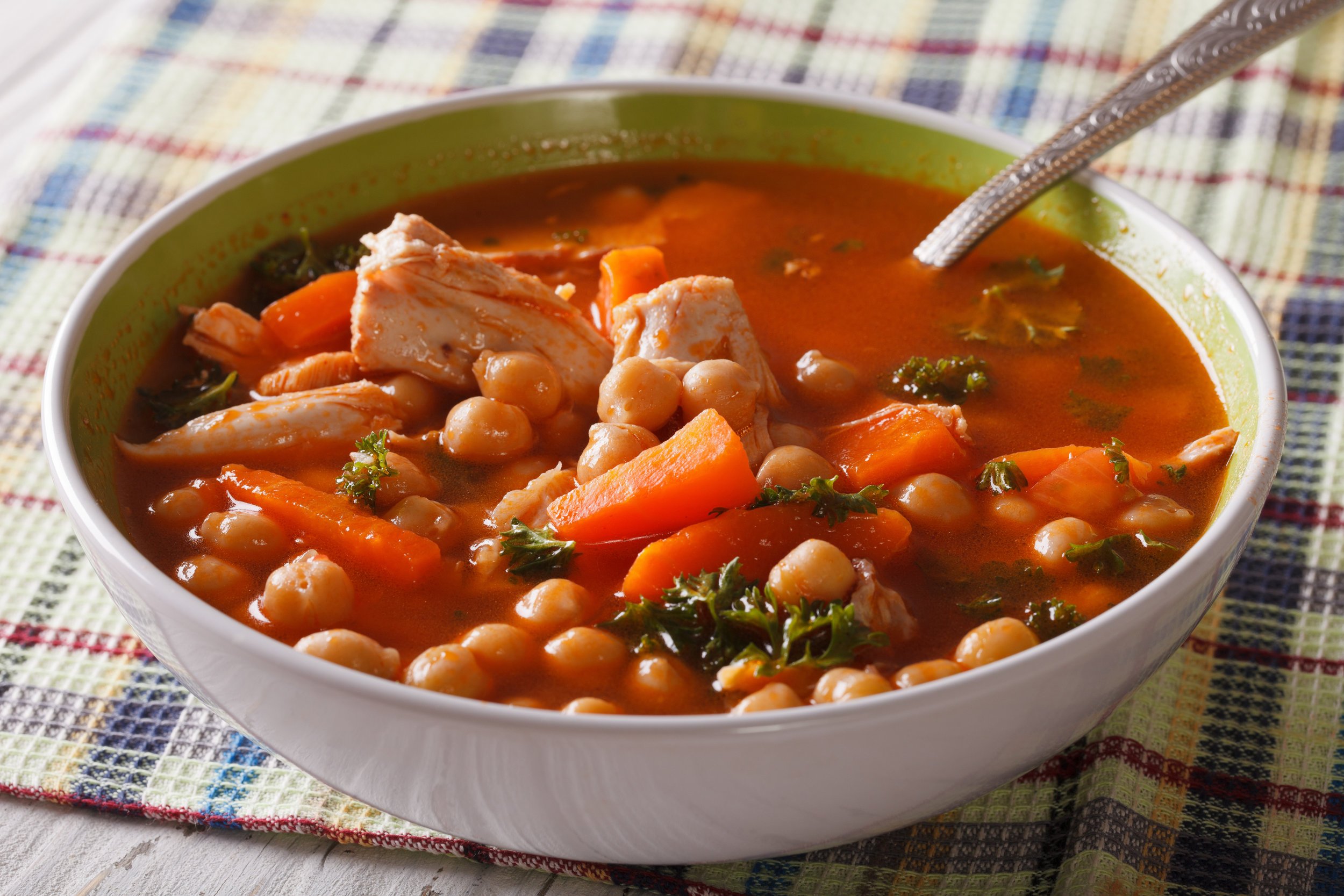 Tomato soup with chickpeas and chicken.jpeg