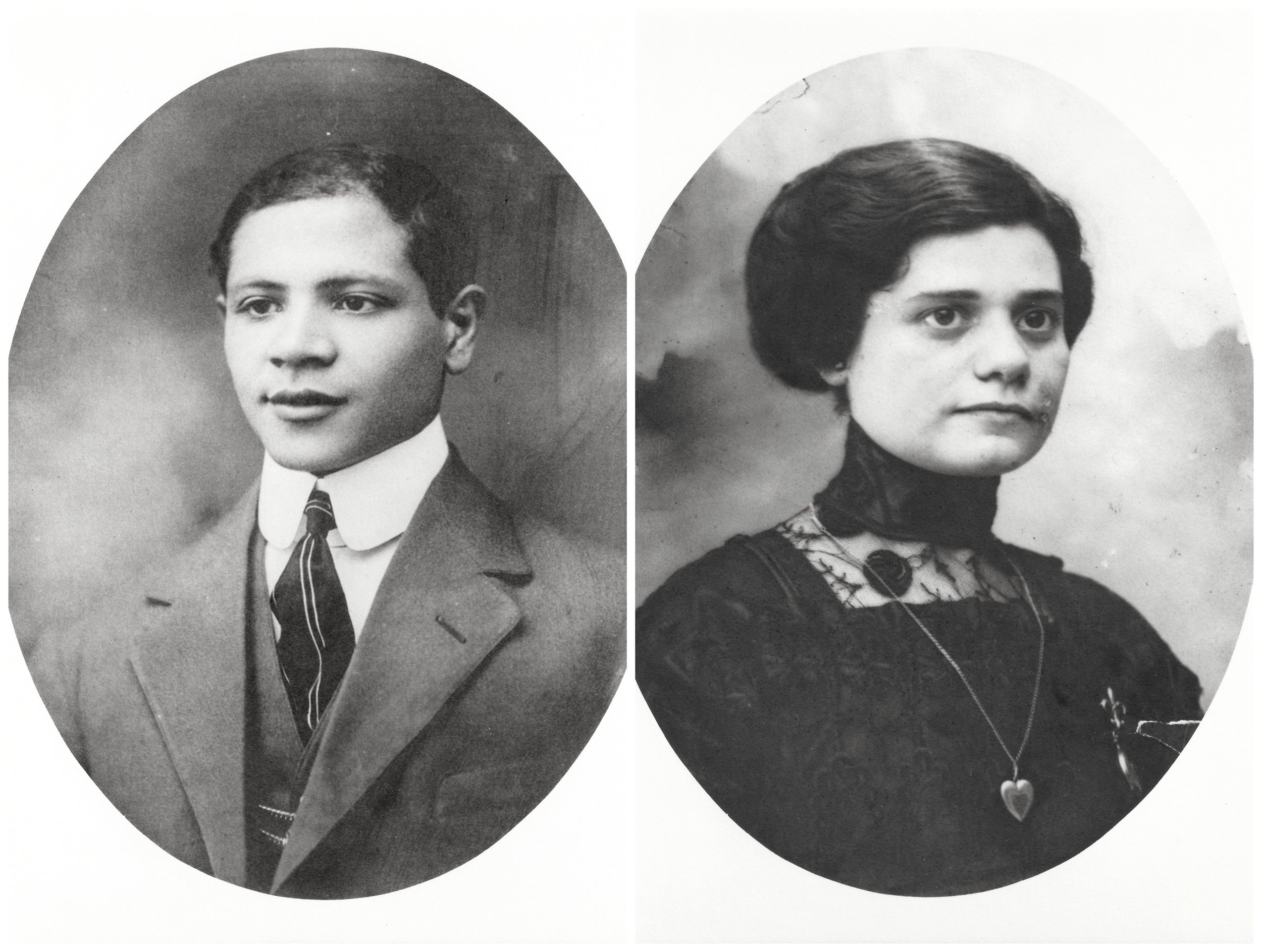 Portraits of Mary's Father and Mother,displayed in the living room of her apartment. Photographs courtesy of Joe U.