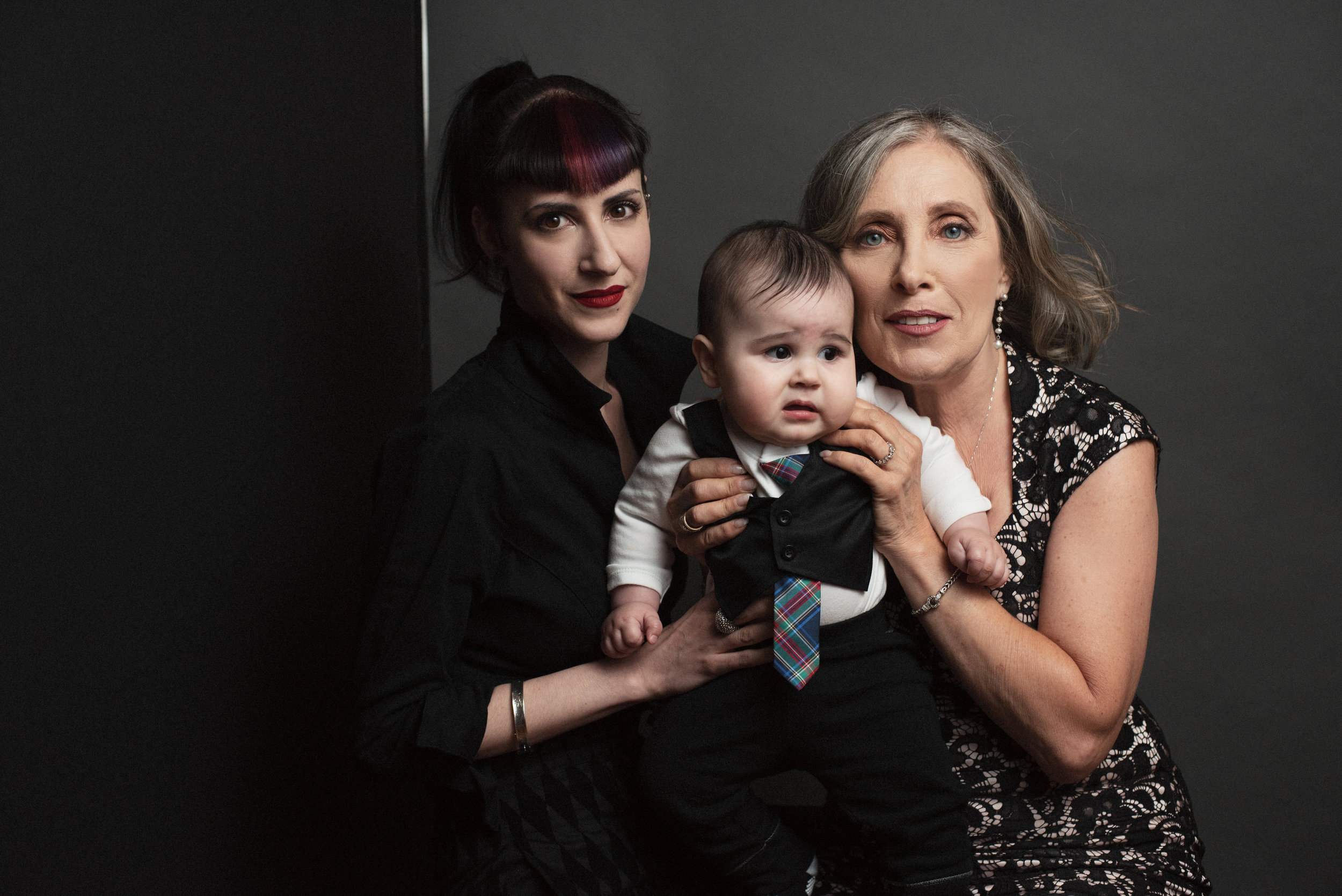 Simone (right) with daughter Anna (left) and grandson Max (center).