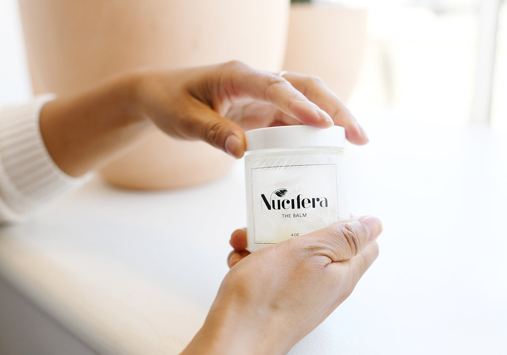 NUCIFERA BODY BALM   - OUR FAVORITE PLANT BASED BODY BALM. PERFECT FOR WHOLE BODY AND SAFE FOR BABY. MADE LOCALLY IN VENICE, CA.  *also sold at the studio