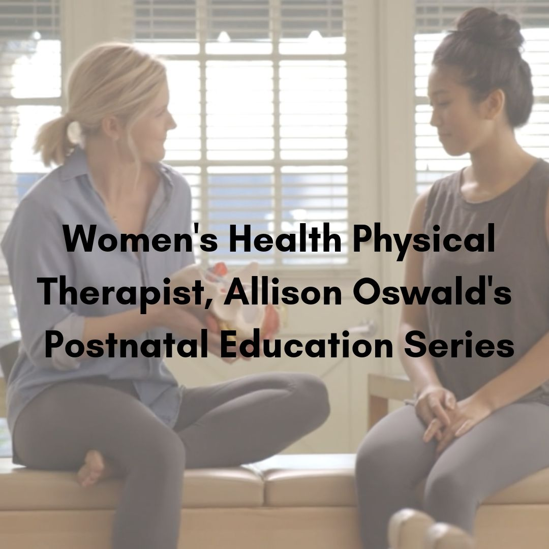POSTNATAL EDUCATION VIDEO SERIES   - created by our very own founder and women's health physical therapist, allison oswald, this postnatal education series will help you understand how your core, breath & alignment work together to reframe your body during this postnatal period.