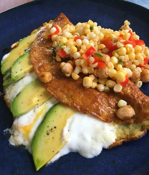 Hewitt's -Runner's Omelet- with Mills Mexican Corn Salad