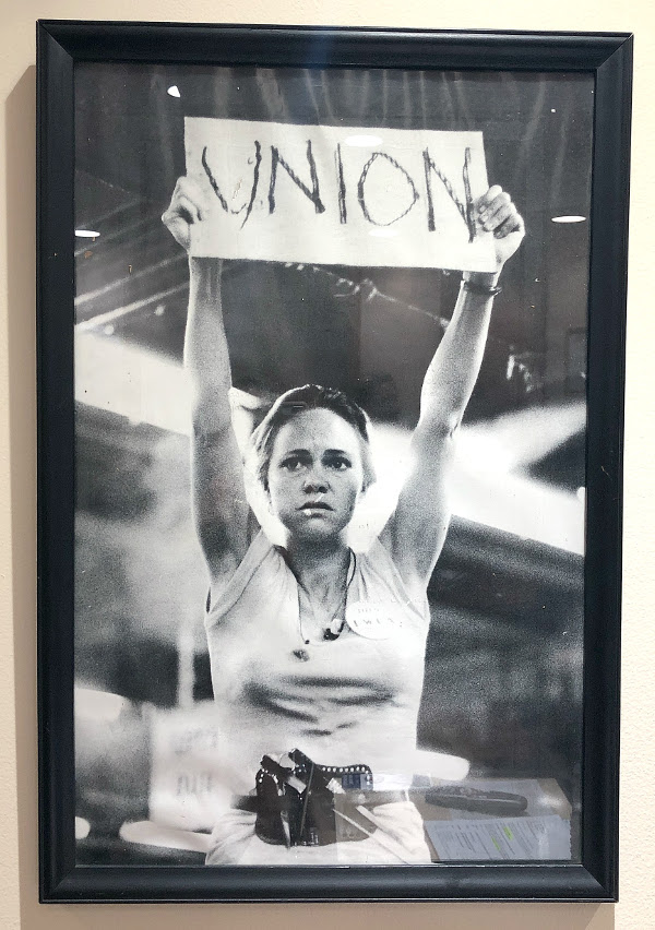 On the wall at the AFL-CIO