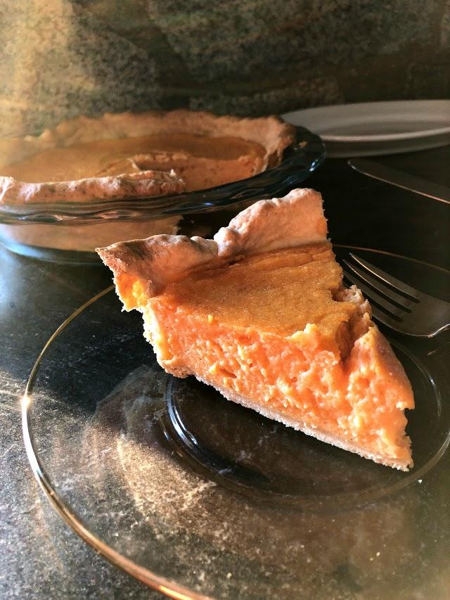 Sweet potato buttermilk pie
