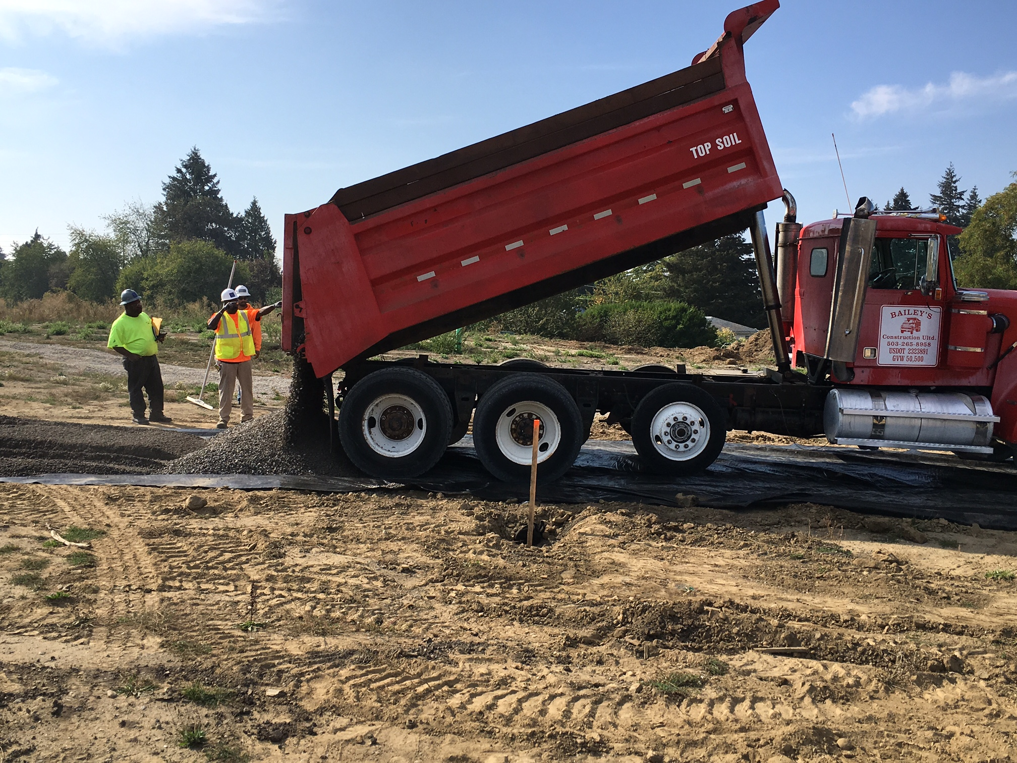 Sub-contractors begin laying the foundation of the 72nd Avenue Green Street.