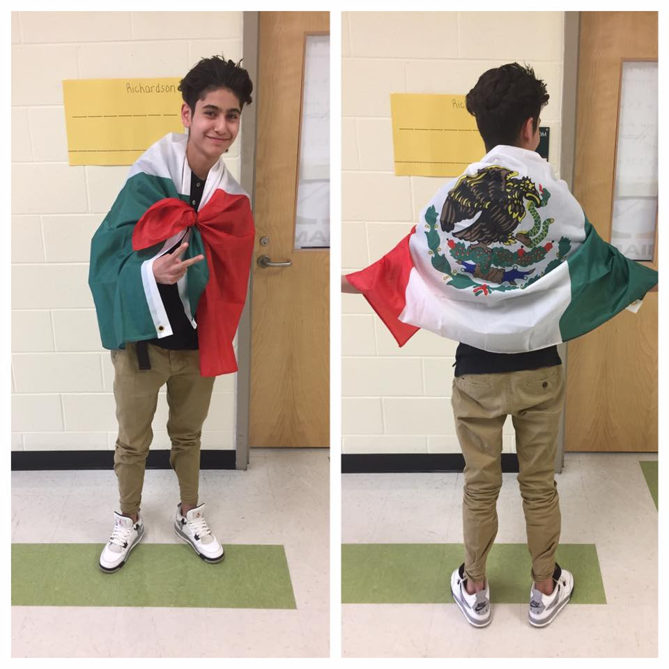 """One of our scholars on """"Rep your Country Day""""."""