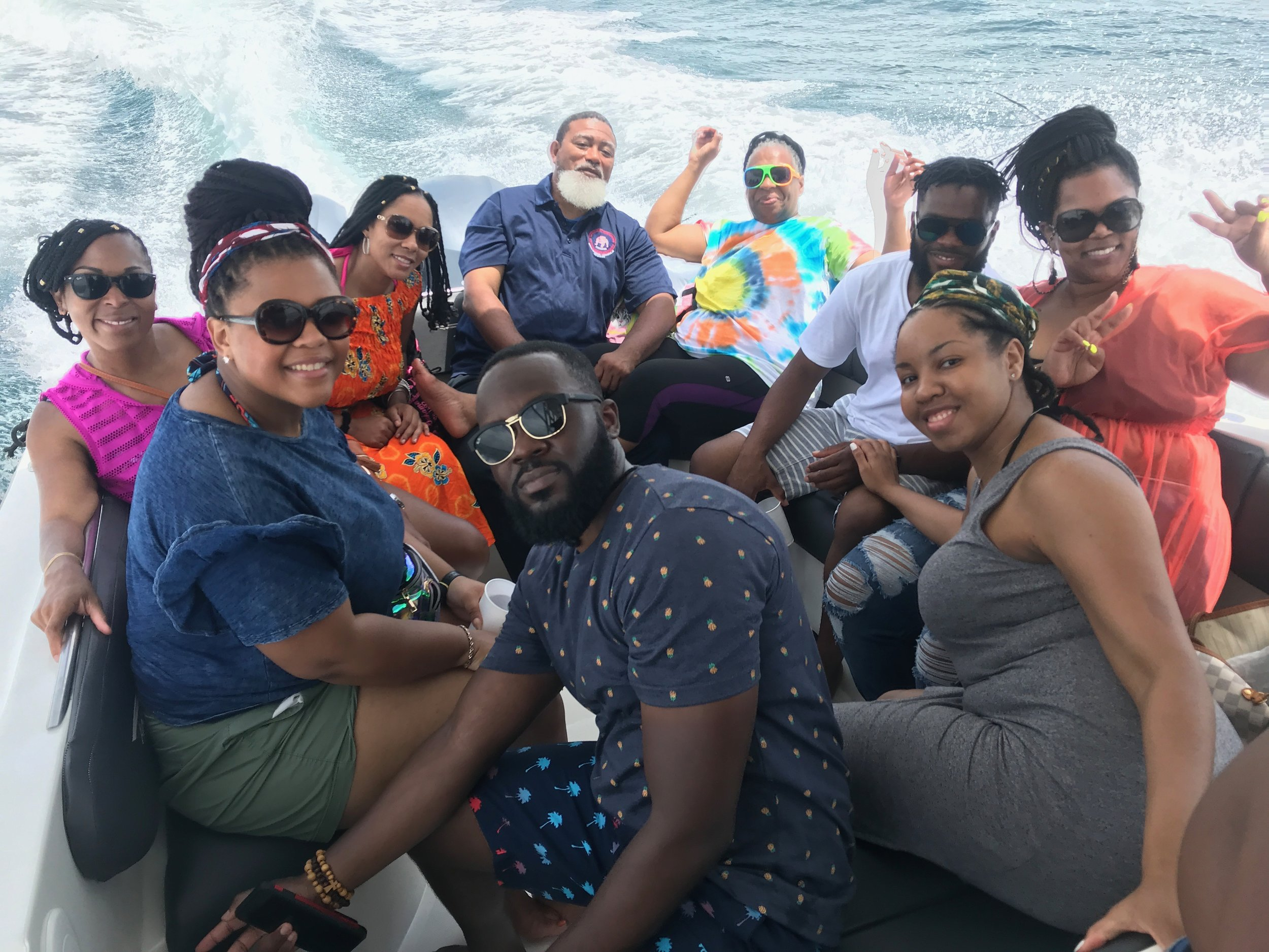 The group of amazing people I met during the beach hopping tour with Experience Real Cartagena tour company.