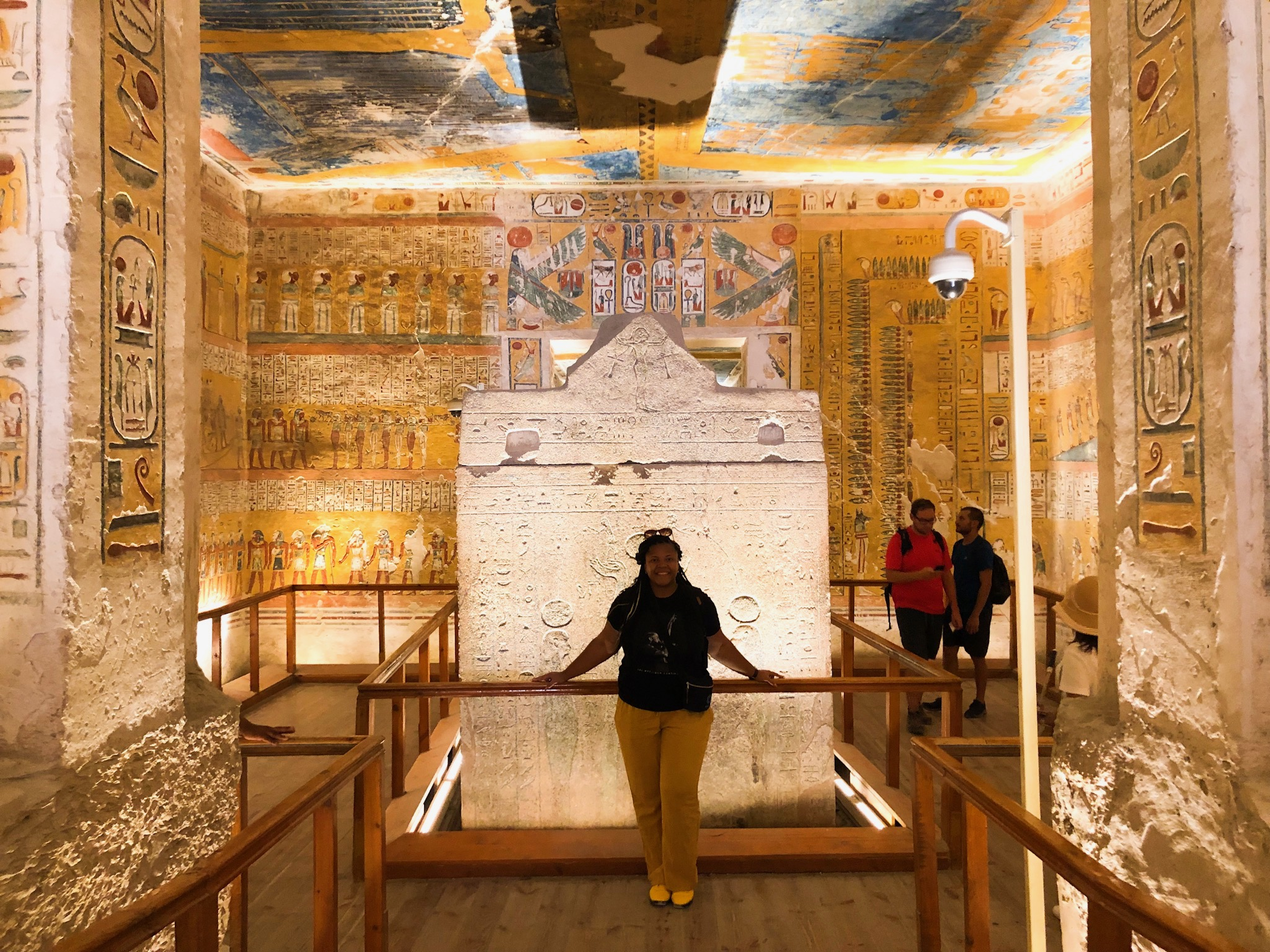 Inside one of the Pharaoh tombs at the Valley of the Kings.