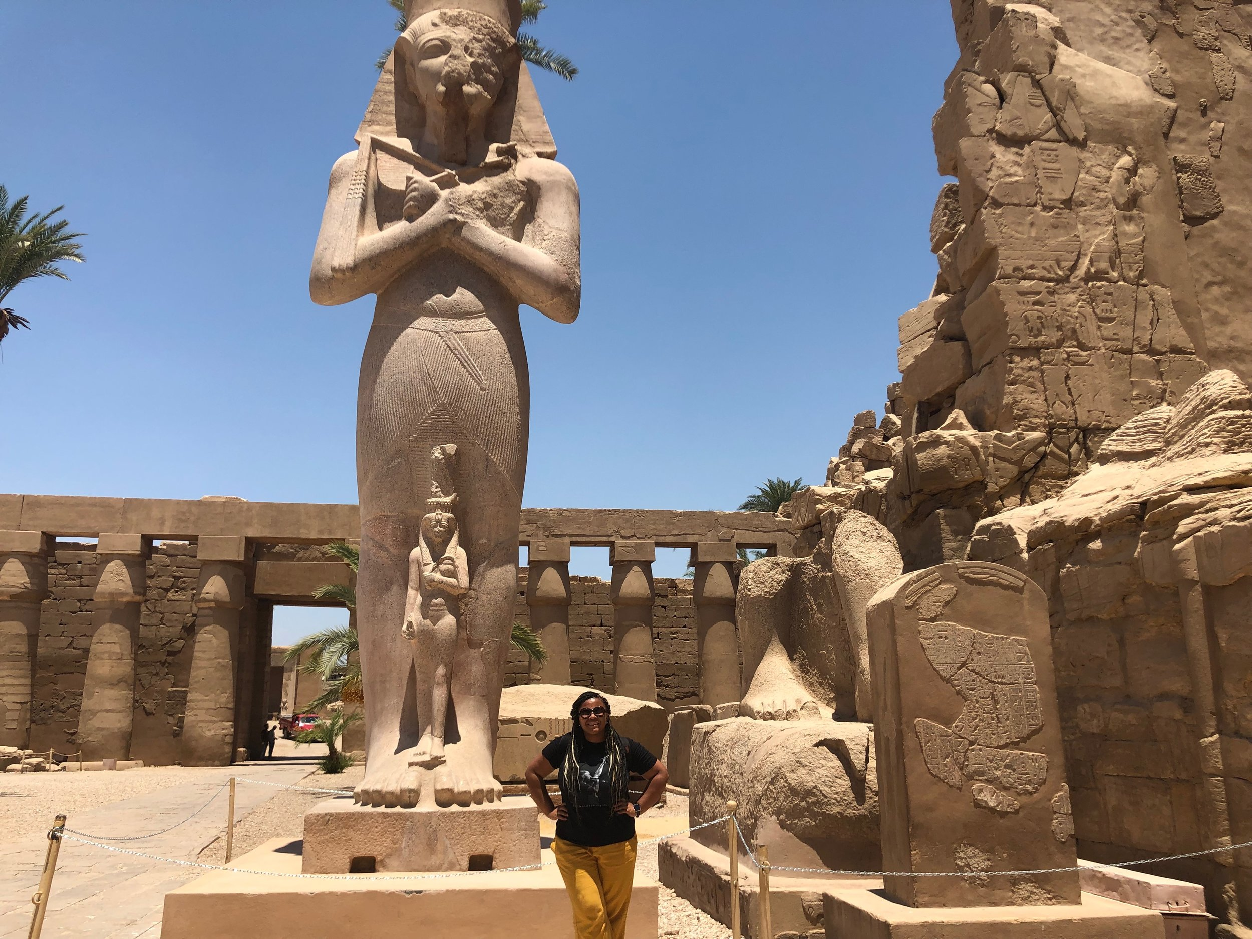 Visiting Luxor temple.