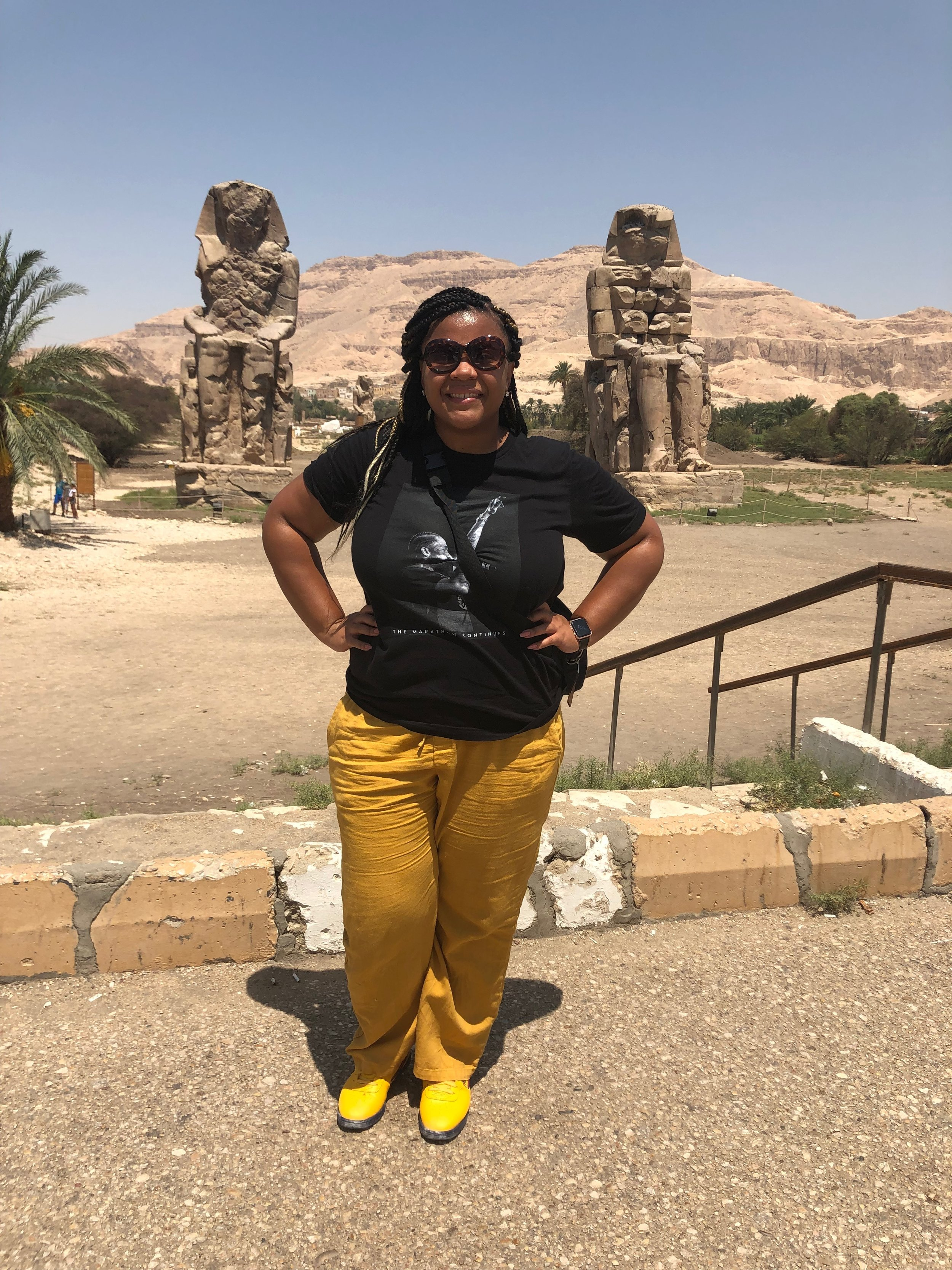 Hopped out of the car in Luxor to take this quick photo!