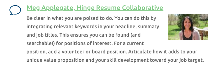 Meg Applegate, Ask the Experts Contributor, National Resume Writers' Association.png