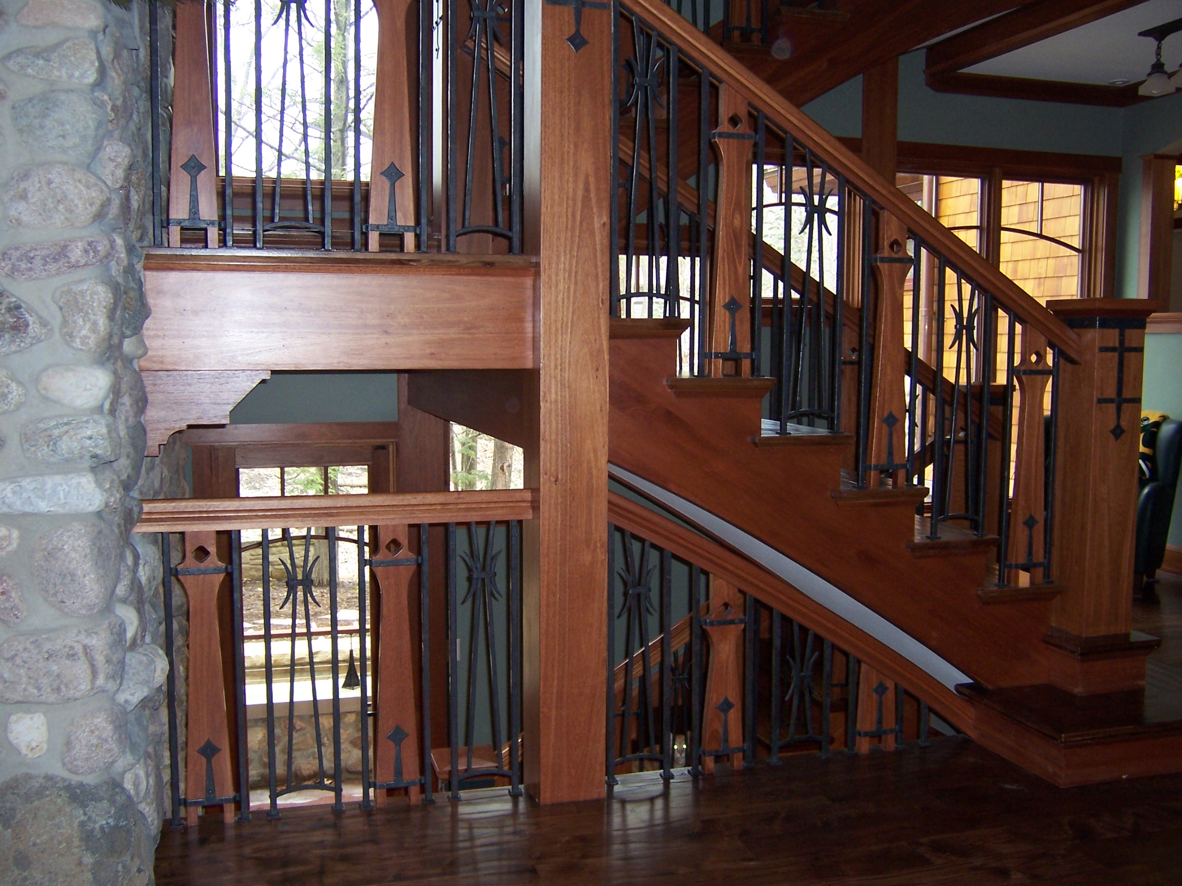 Arts and Craftsman Style Railings