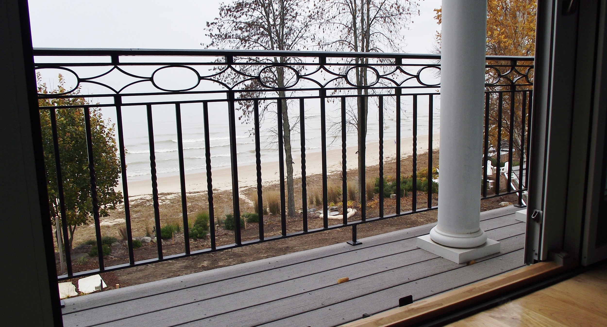 Lakefront Home Exterior Railing