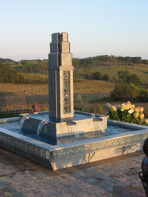 Art Deco Galvanized Fountain
