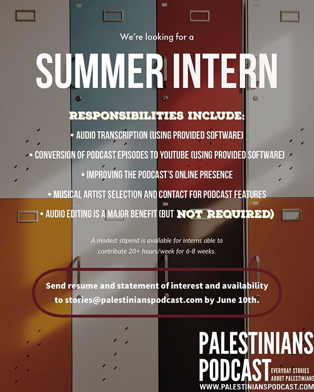 We're looking for some summer help! Share with all the students and interested parties you know! #summerinternship #summerintern #audiointern #podcastintern