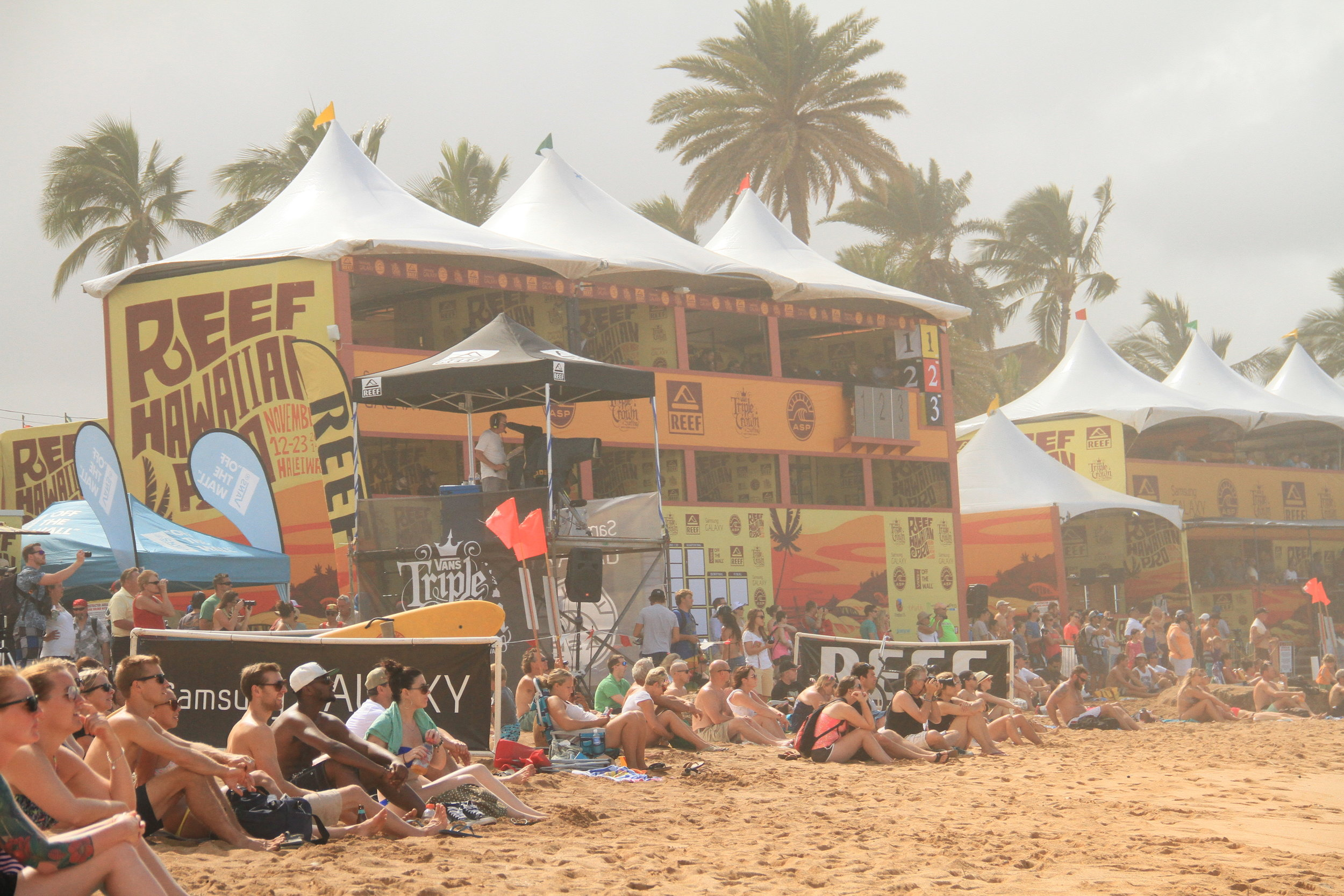 Reef Hawaiian Pro Surf Contest Triple Crown