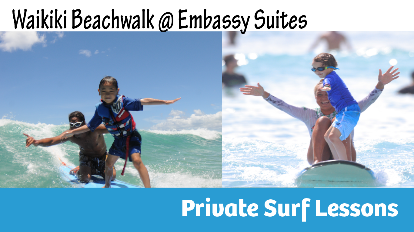 Click HERE to book your Private Surf Lesson at Beach Walk location