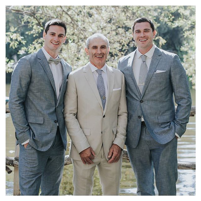 "Happy Father's Day! Big shout-out to the man in the middle for being an  awesome role model for his ""little"" lads - we have much wisdom and hilarious stories to pass on!! @pltangney 📸 @jennysmithandco_"